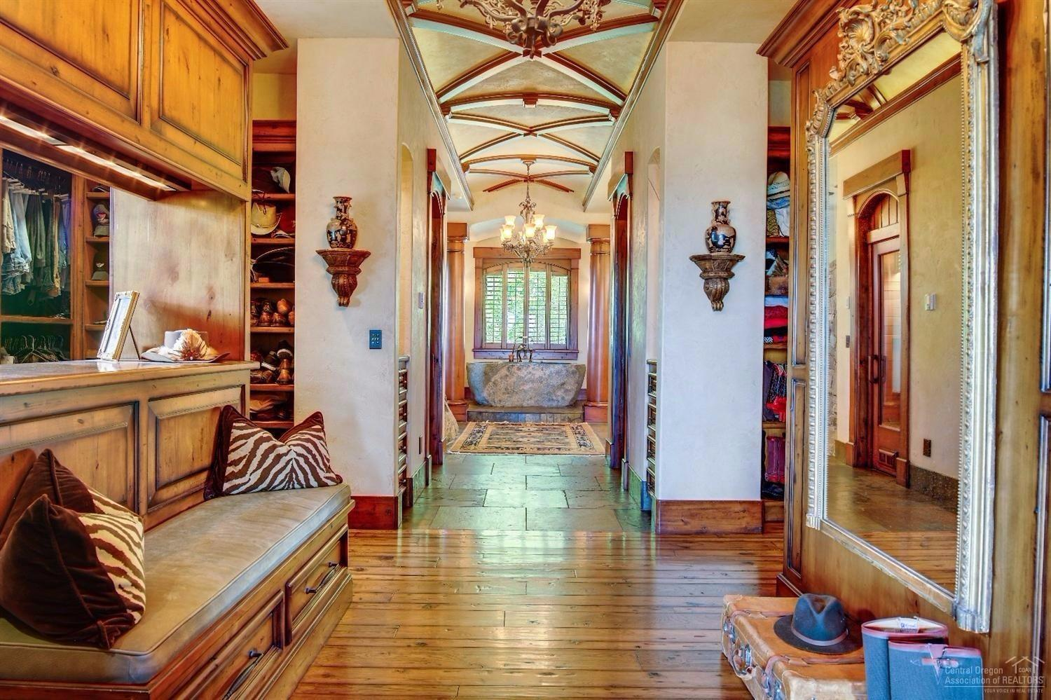 A beautiful barrel ceiling with artistic detail an