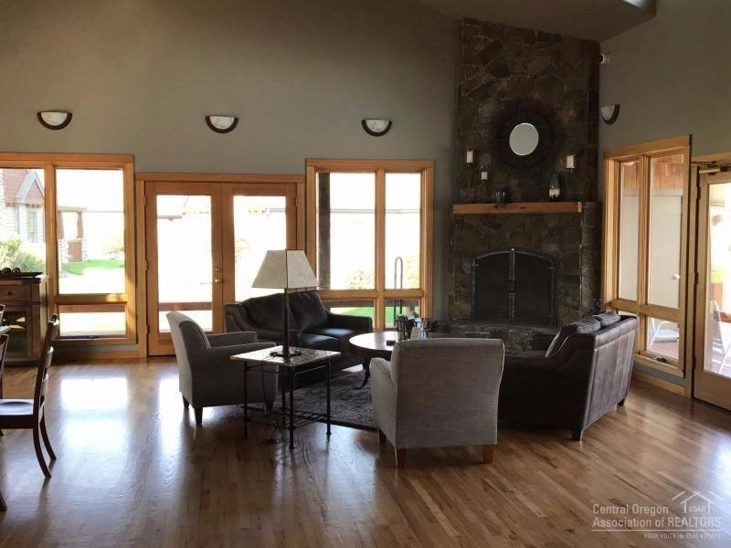 Clubhouse interior with fireplace for a quiet plac