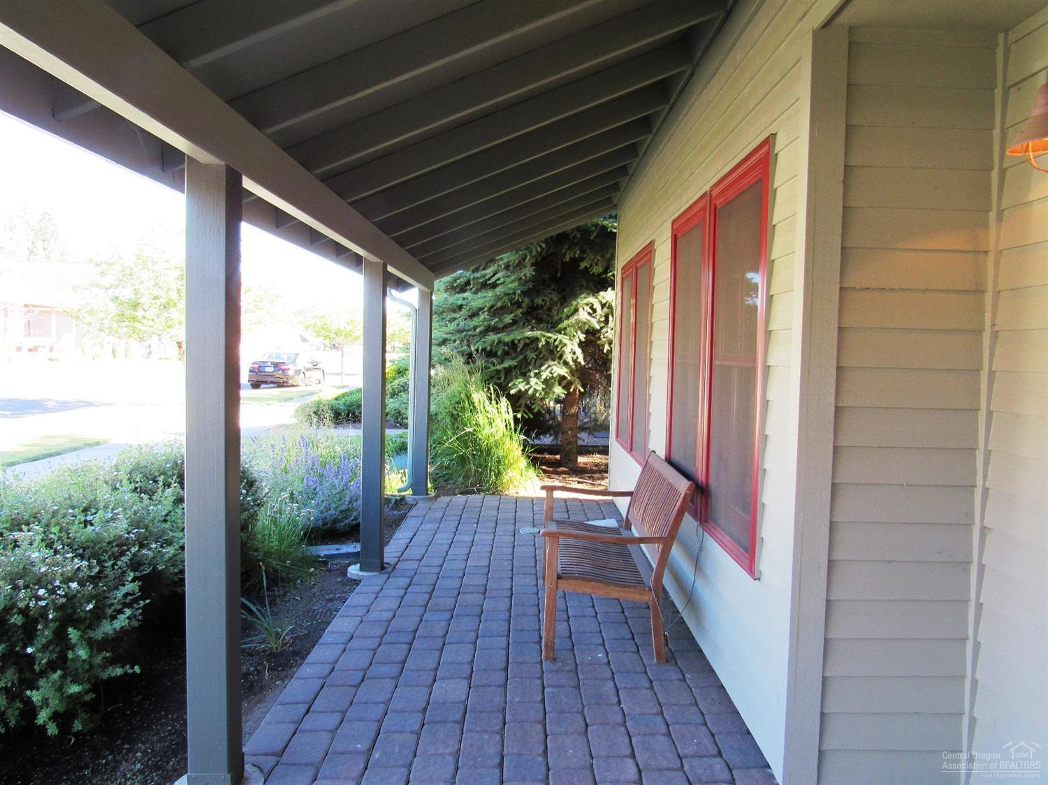 Front porch with pavers for your enjoyment.