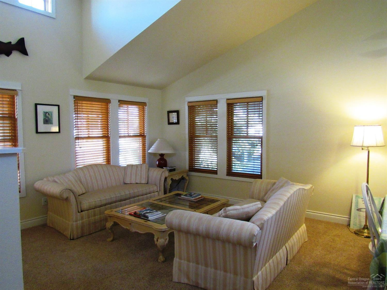 Vaulted ceilings and lots of light/bright windows