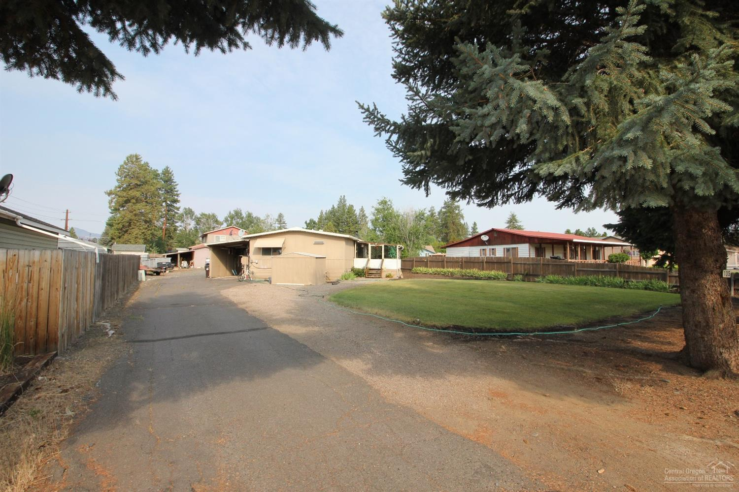 Driveway with covered carport