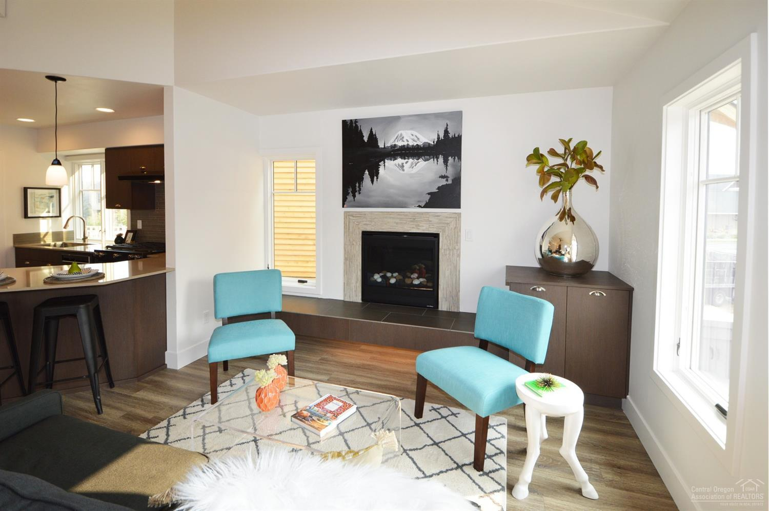 Staged photos of a similar floor plan.Staged photo
