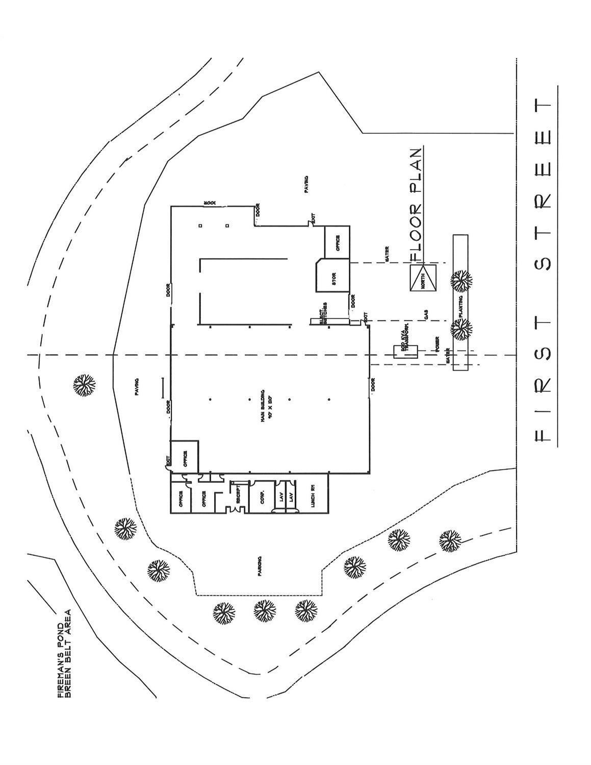 Site plan and building floorplan