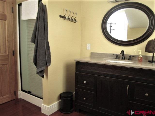 upper level bathroom with shower