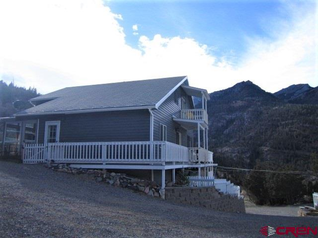 back of house overlooks Ouray