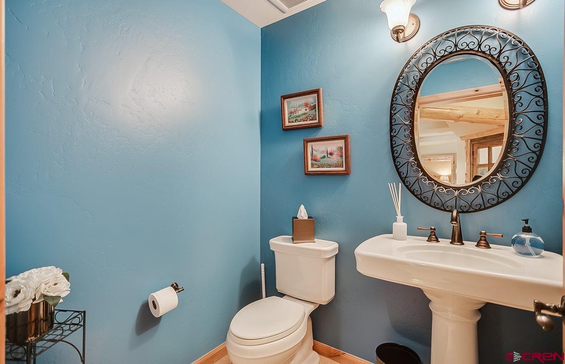 Powder bathroom in master suite.