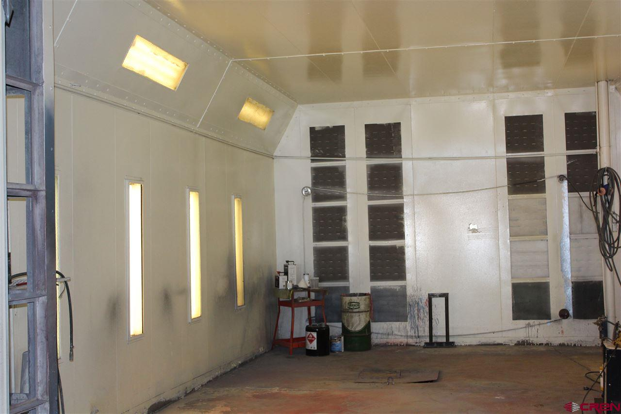 Inside painting booth