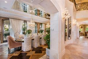 Exceptional formal dining with amazing stonework a