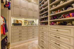 Three expansive closets.