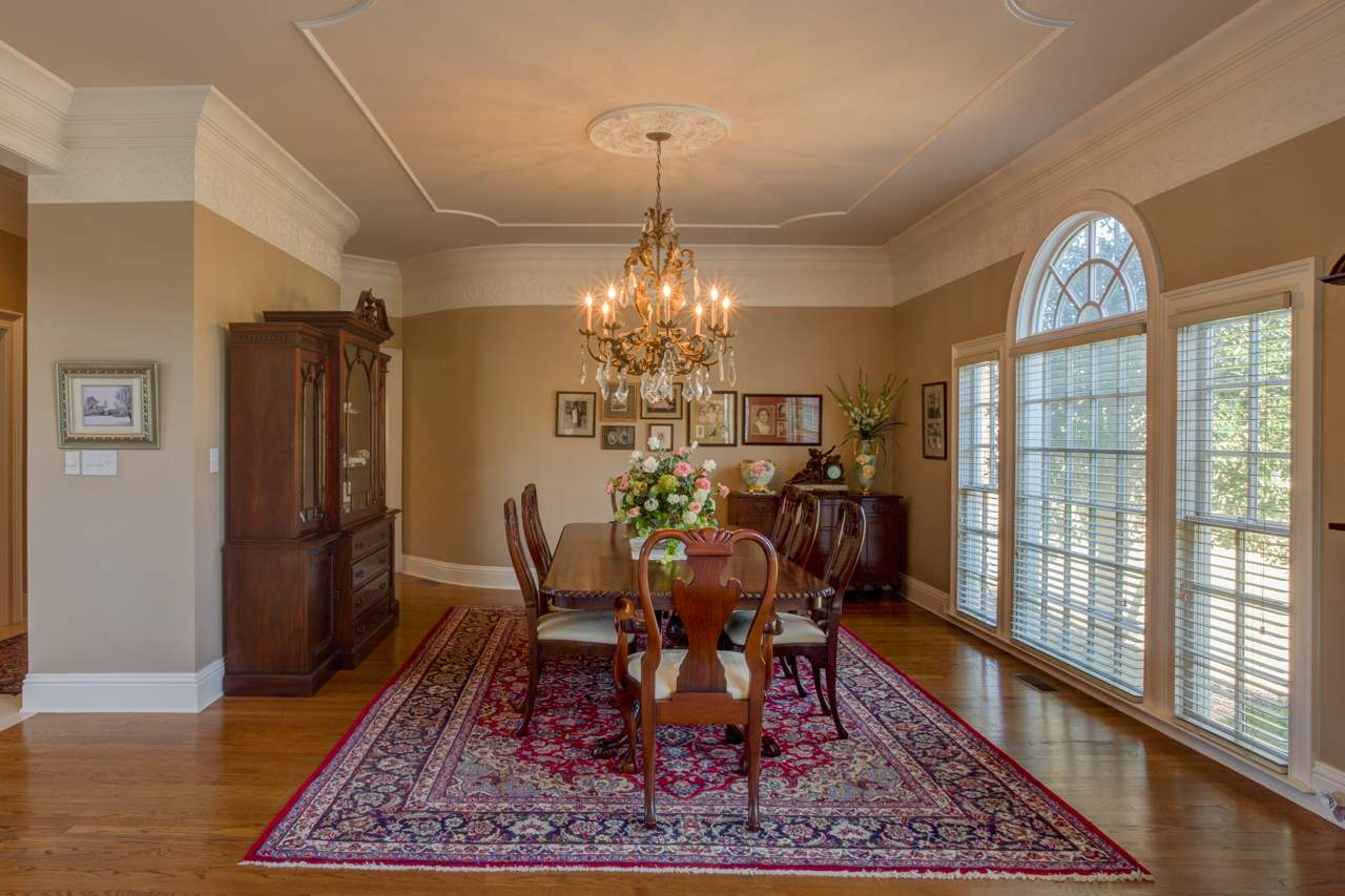 Large, open dining room