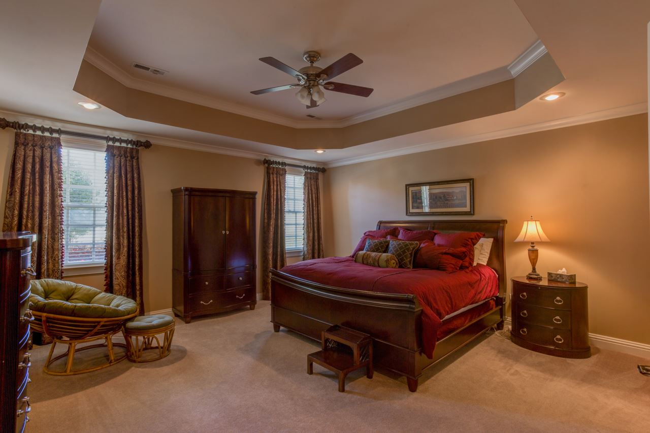 Master bedroom in basement.