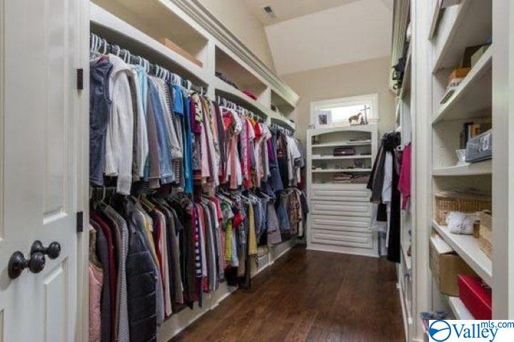 One of two walk in closets with built-ins in the m
