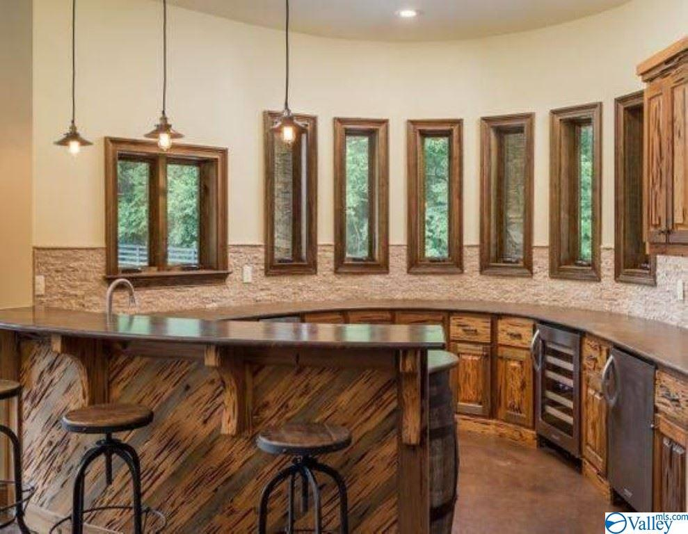 .Basement kitchen with cypress cabinets