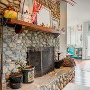 Elegant Stone Fireplace