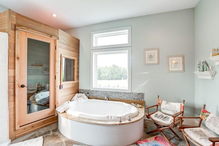 private sauna in Master Bath