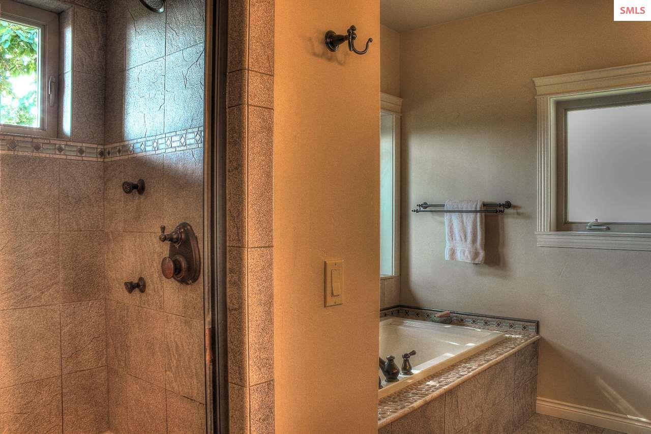 Large walk in shower.