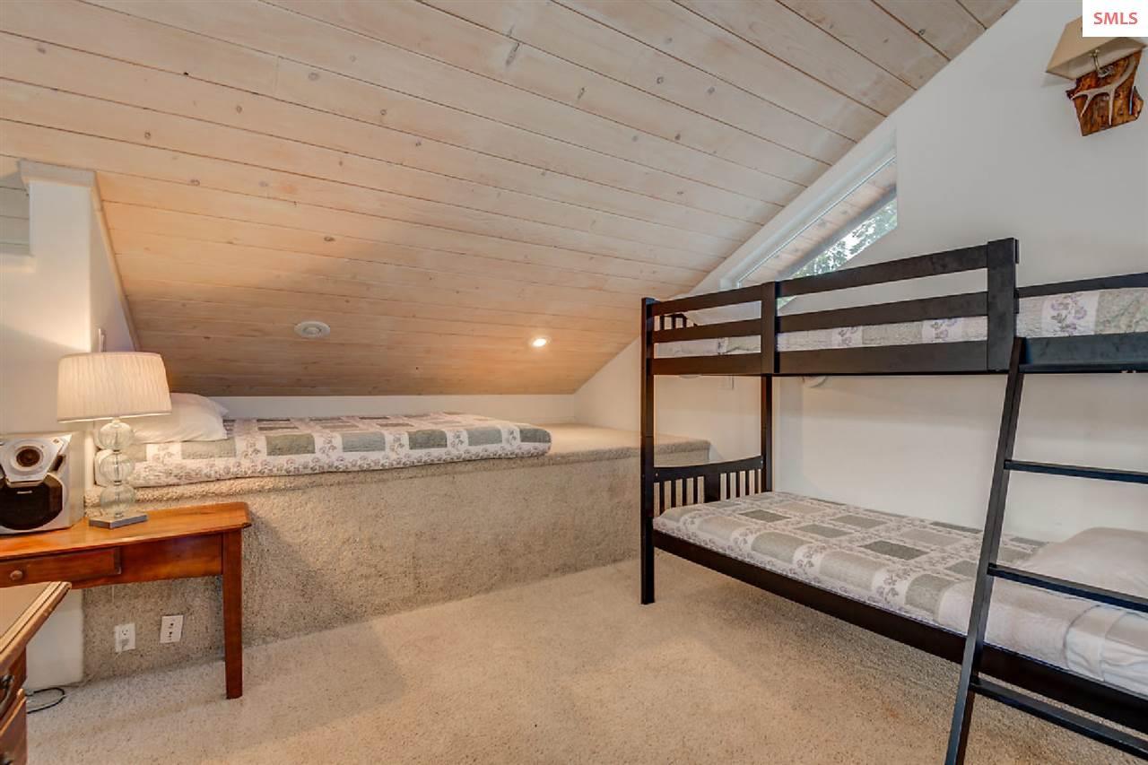 Carpeted platforms create overflow sleeping space
