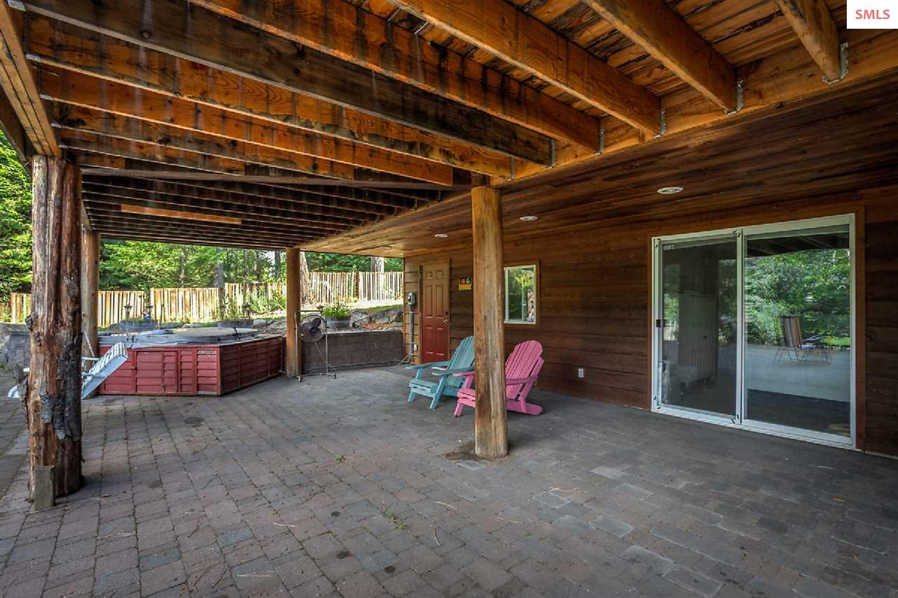 Covered patio runs the length of the house and is