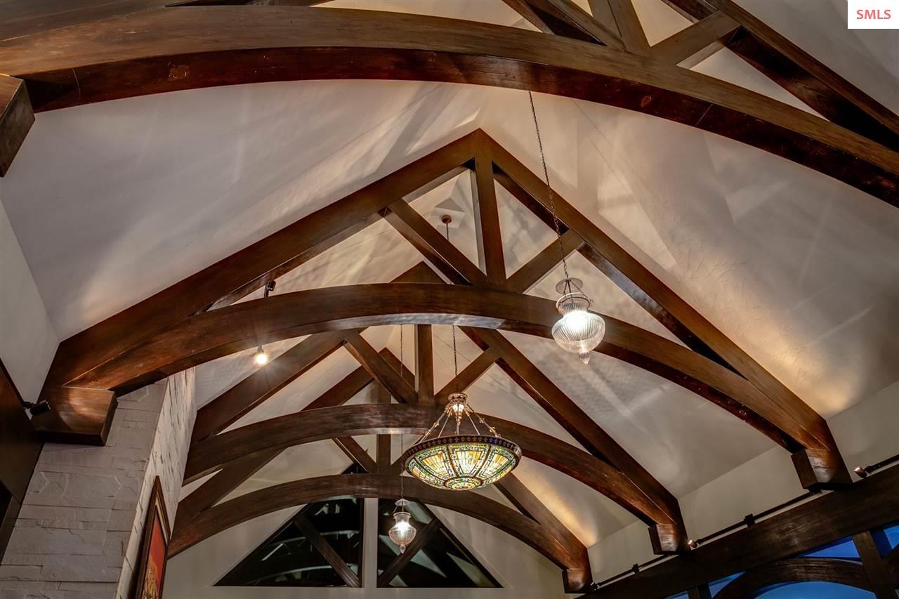 Cathedral Ceiling with Custom Timbered Trusses