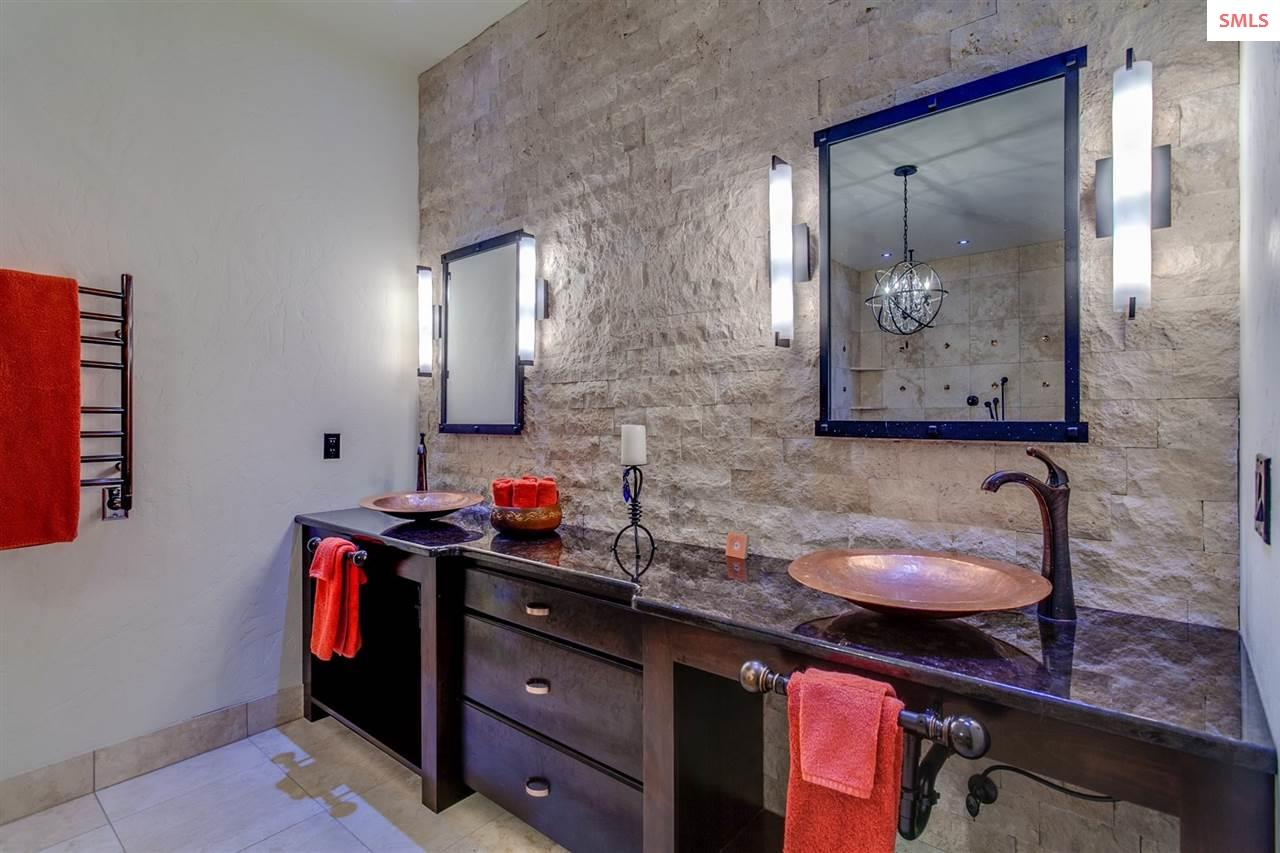 Master Bath with Egyptian Hand-Sculptured Copper S