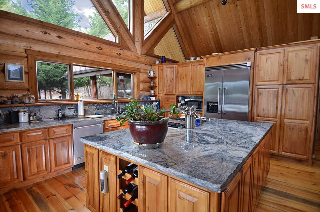 The island in the kitchen helps ensure you have pl