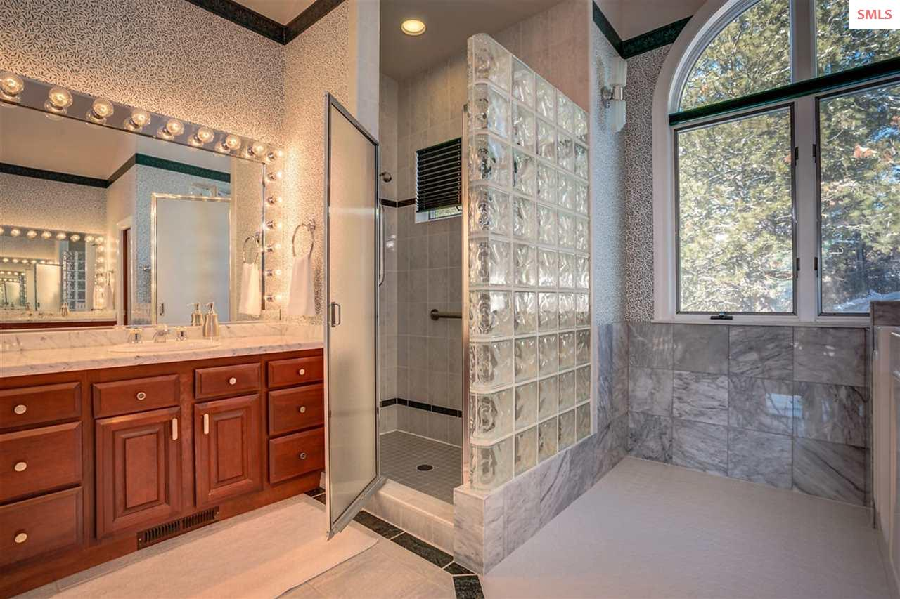 Master bath holds more luxury with a walk-in showe