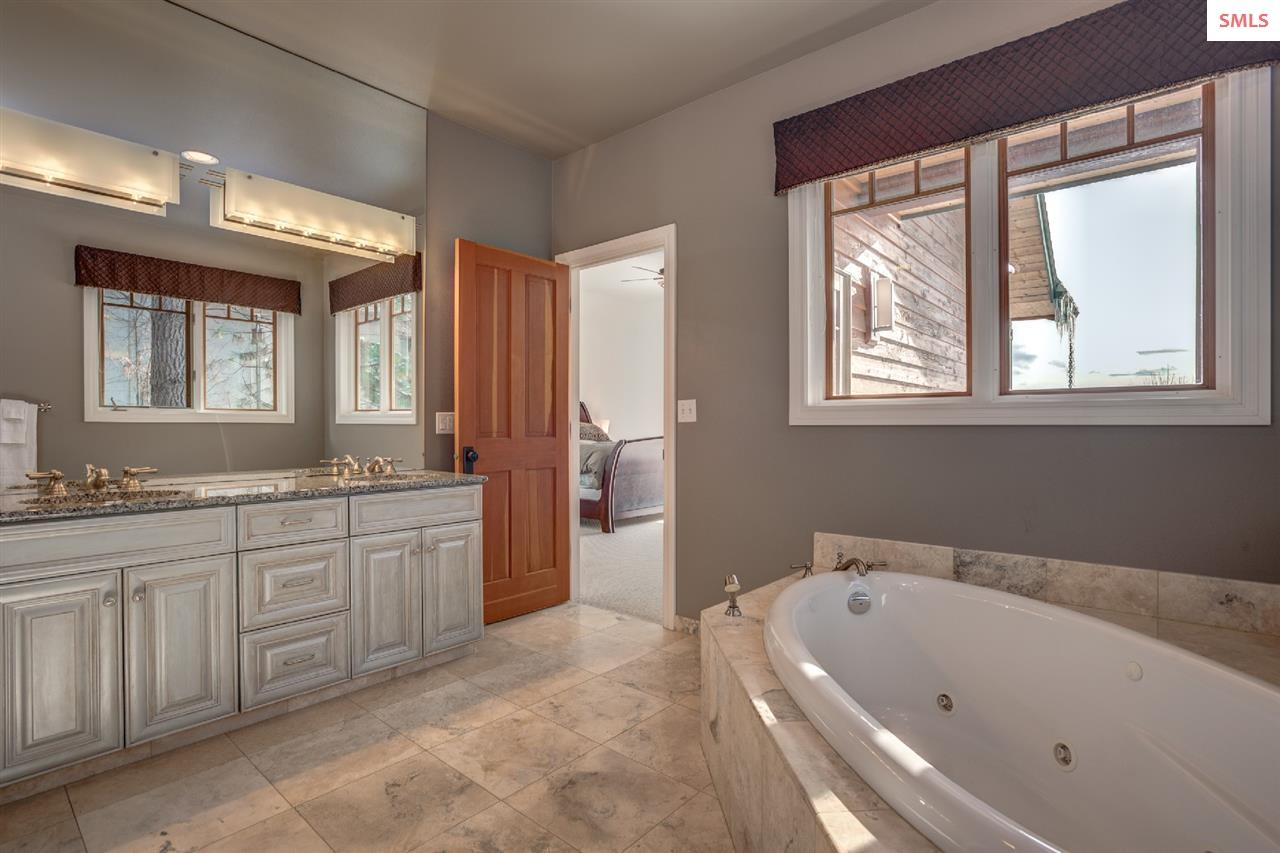 With dual sinks, and deep jetted tub