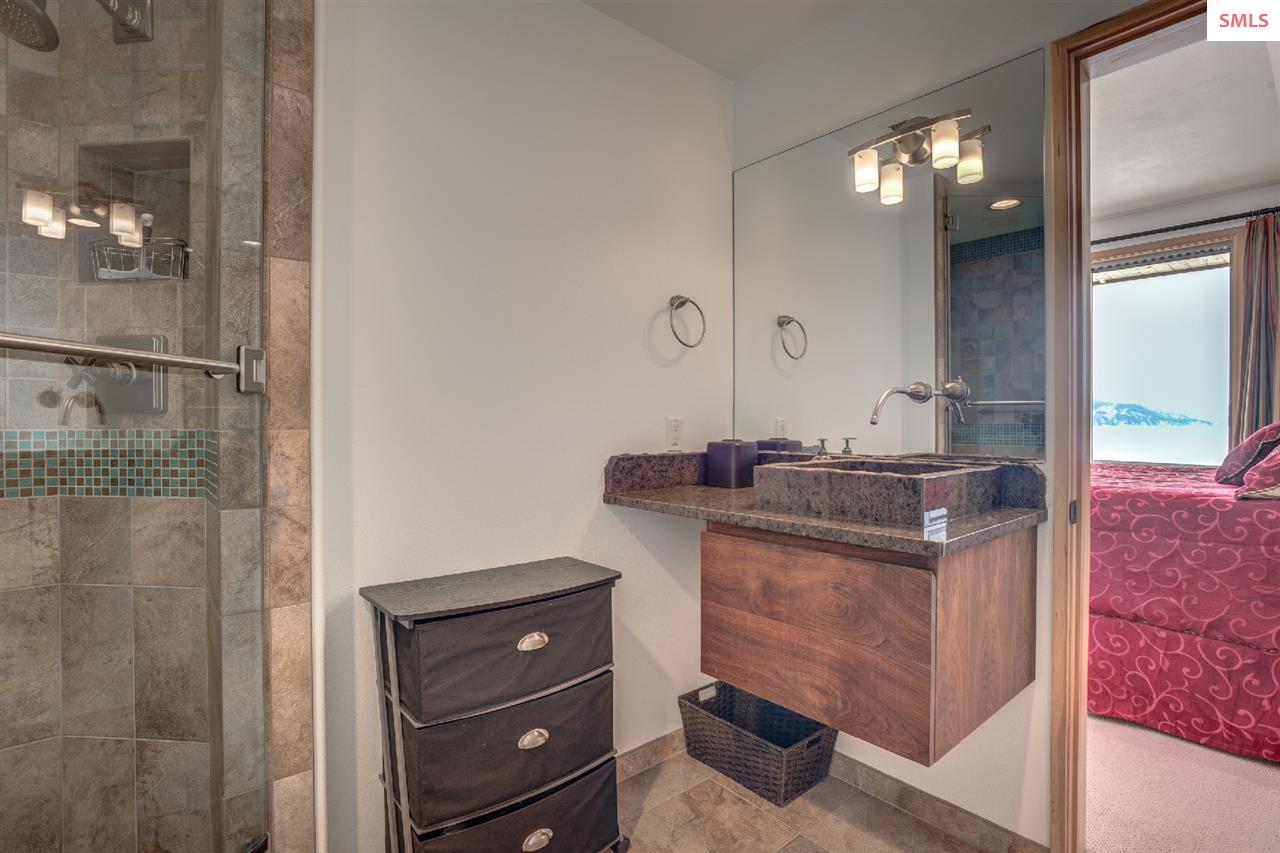 Accentuated with granite, tile, and glass
