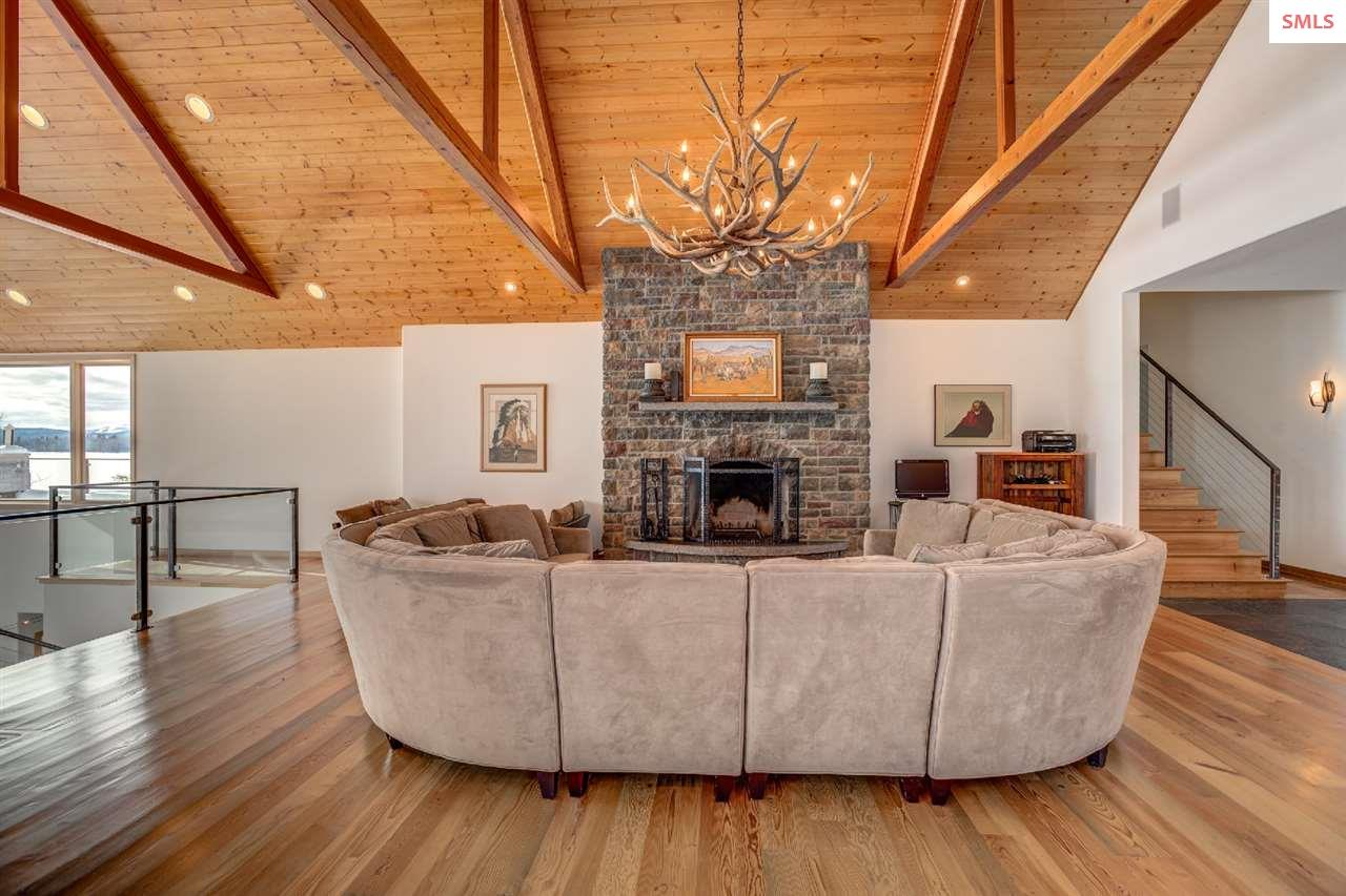 The woodburning fireplace is a perfect gathering p