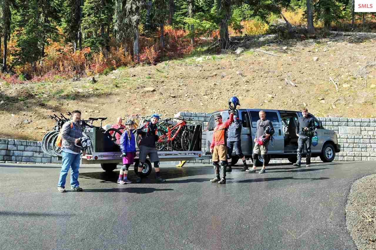 A group taking a Mountain biking tour through the