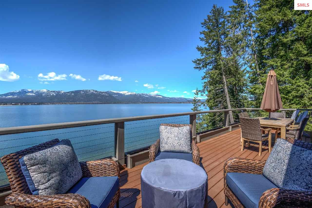 Overlooking Schweitzer Mountain, the lake, and San