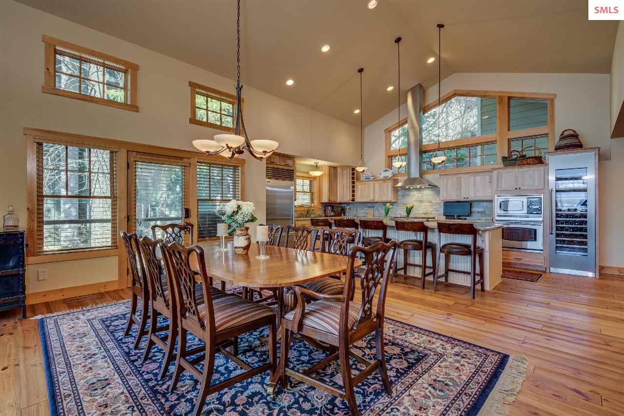Open concept design is ideal for entertaining