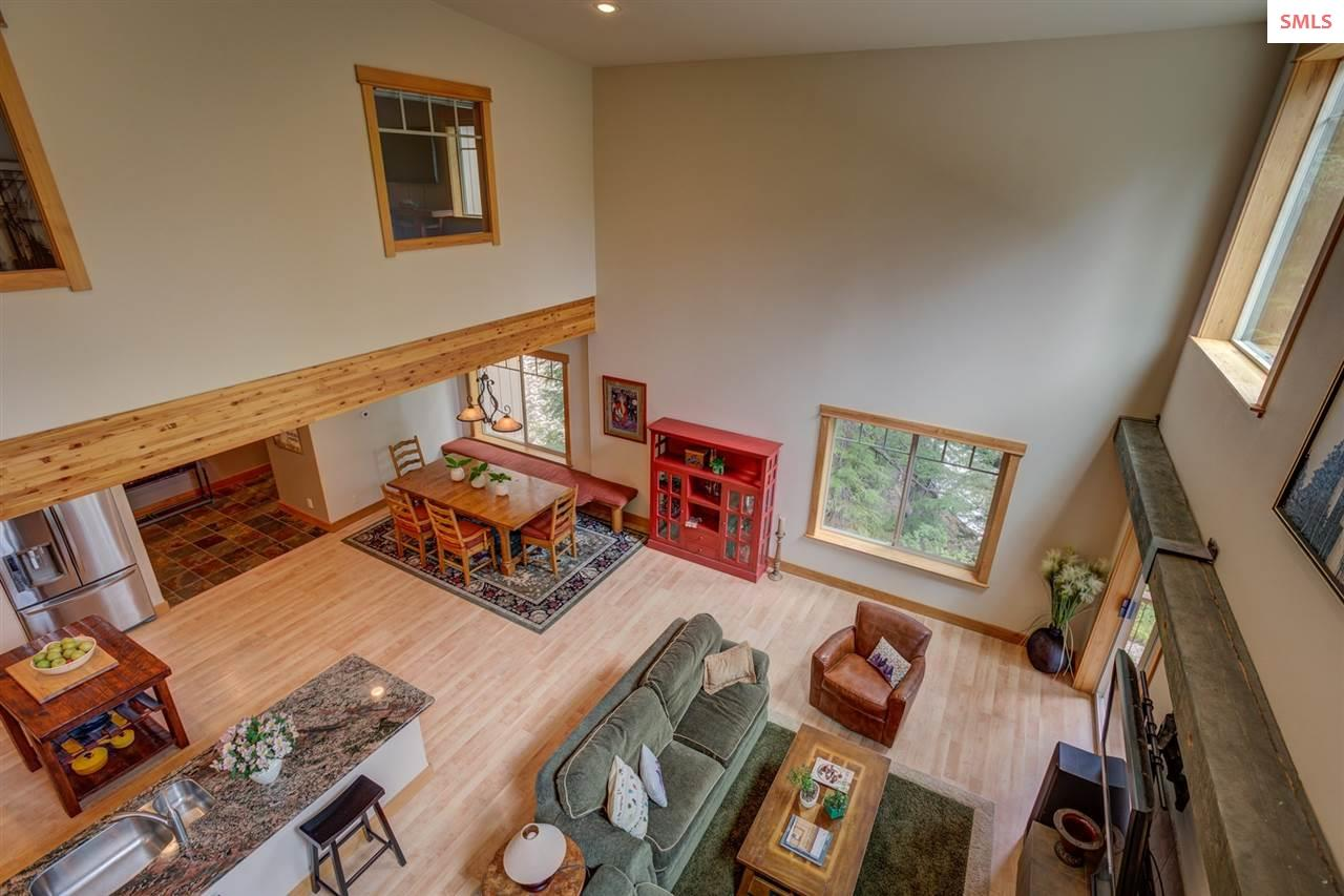 Looking Down at the Open Living Areas
