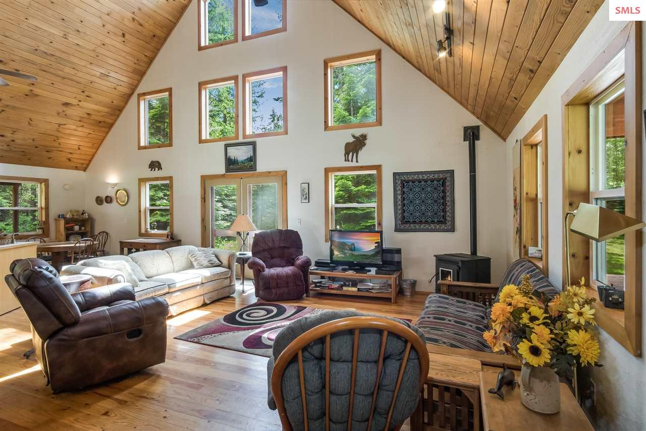 Vaulted wood ceiling