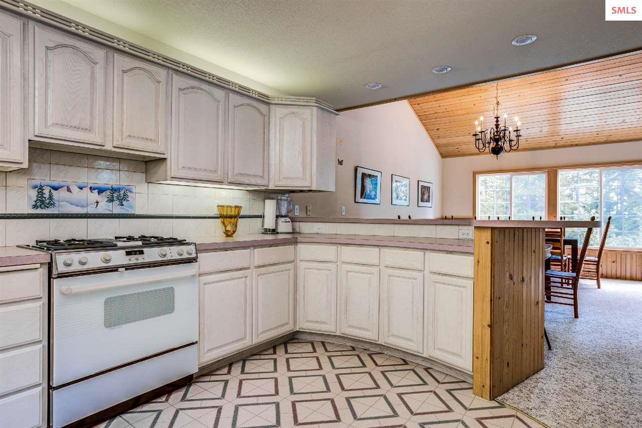 Custom lighting above cabinetry