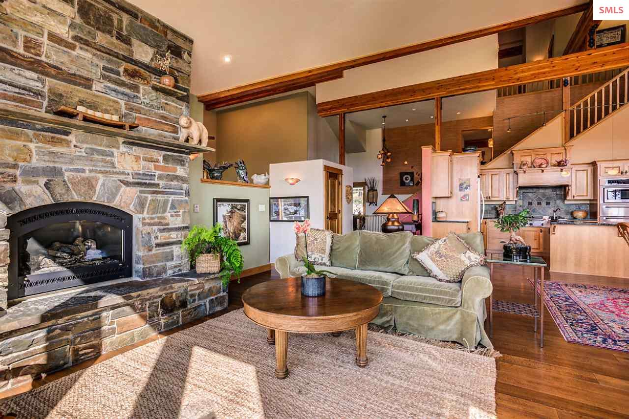 Captivating stone fireplace in the Great Room.