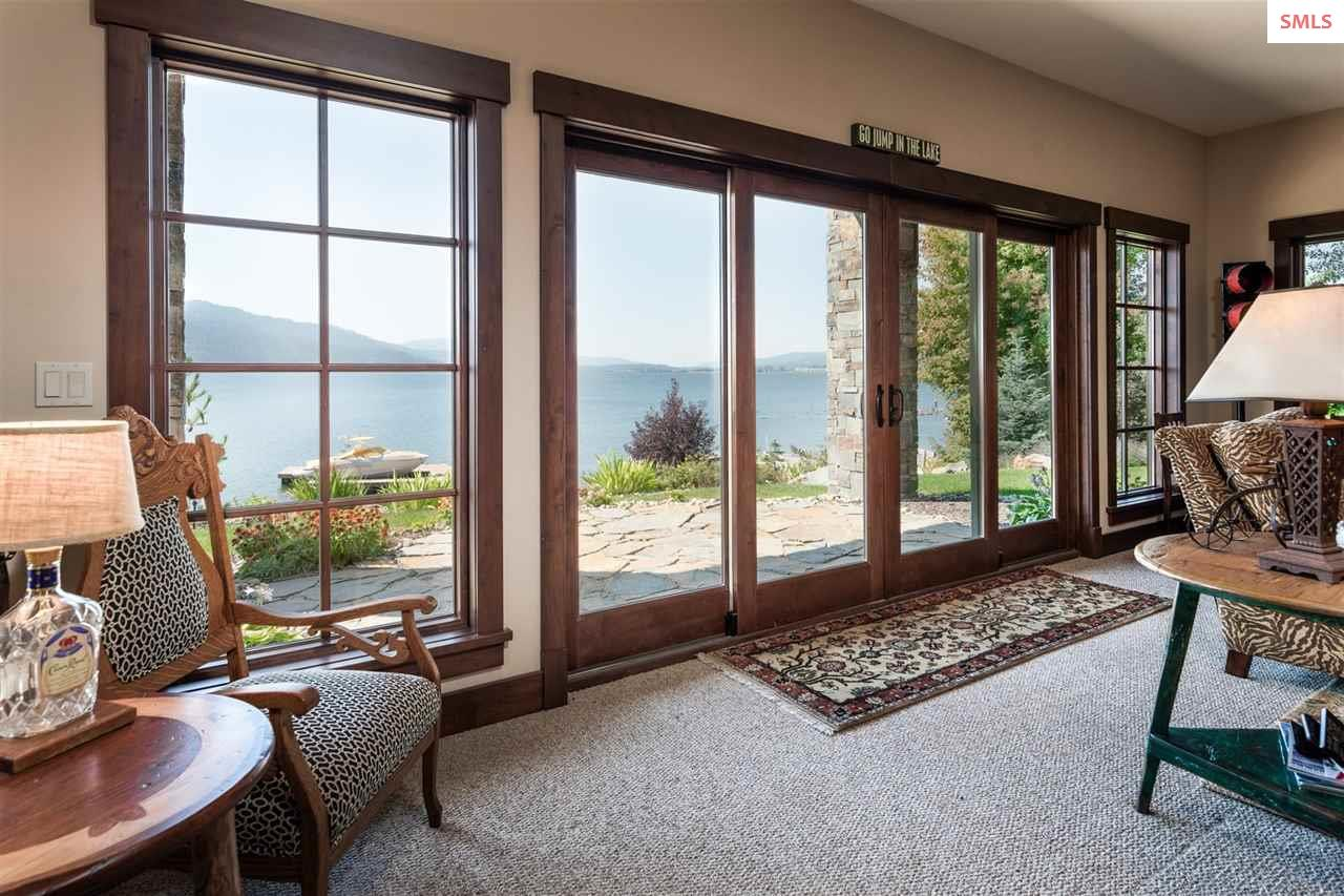 Enjoy the views from the family room or on the pat