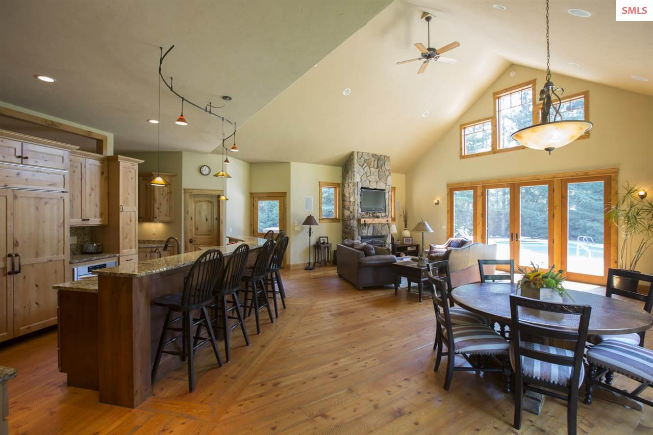 Kitchen, nook, family room.