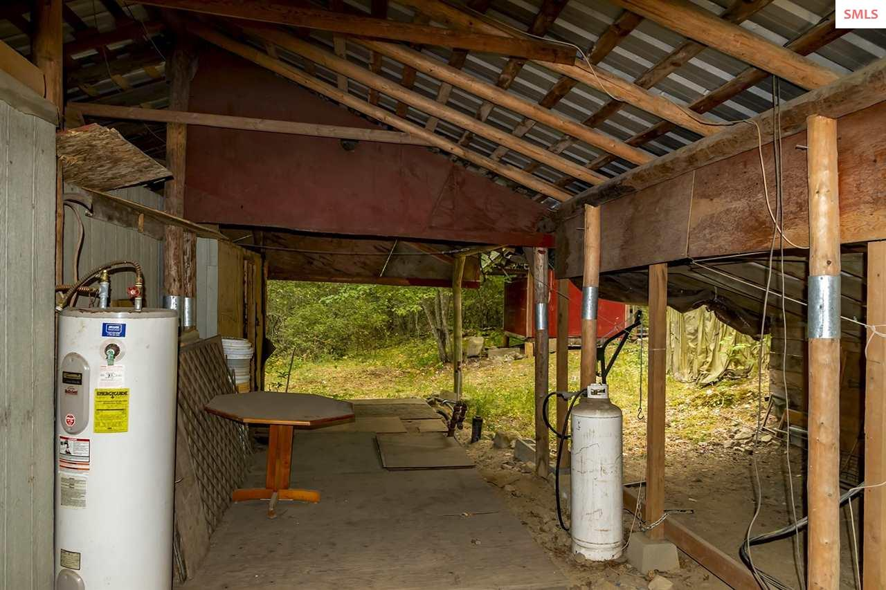 Roof protected an older trailer.