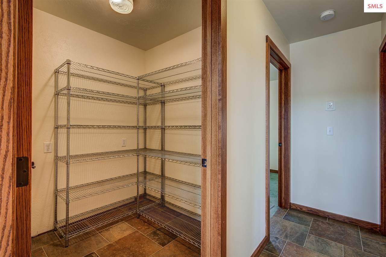 Large walk-in pantry with ample storage space