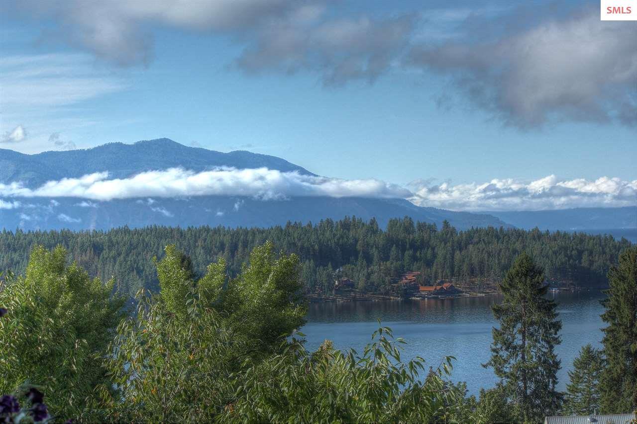 Mountains surround this gorgeous bay.