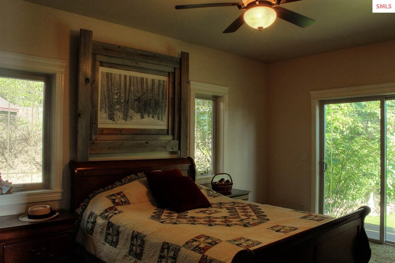 Guest bedroom opens to the garden.