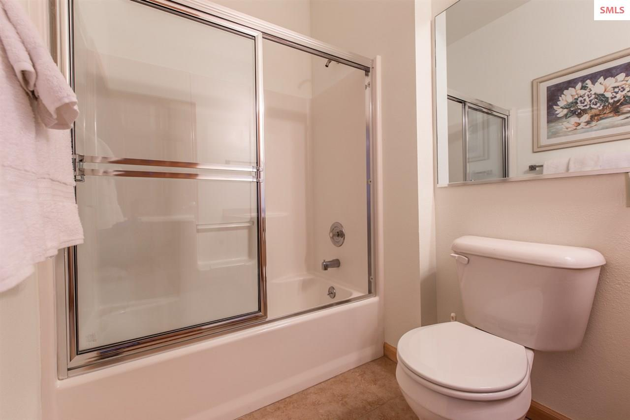 Shower/tub and Large Mirror