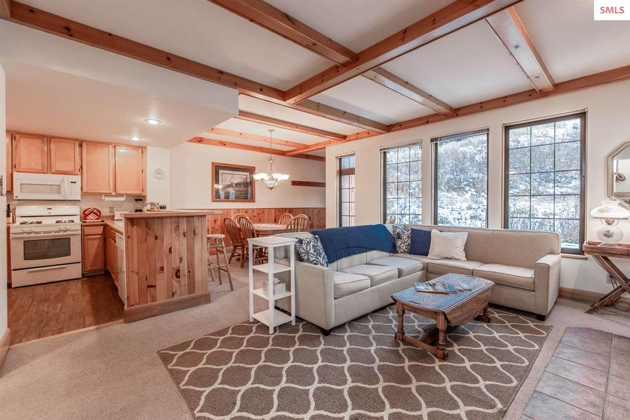 The open living space is perfect for group gatheri