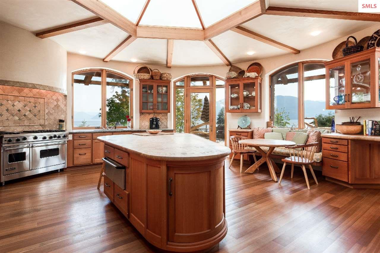 A circular kitchen - as stunning as it is efficien