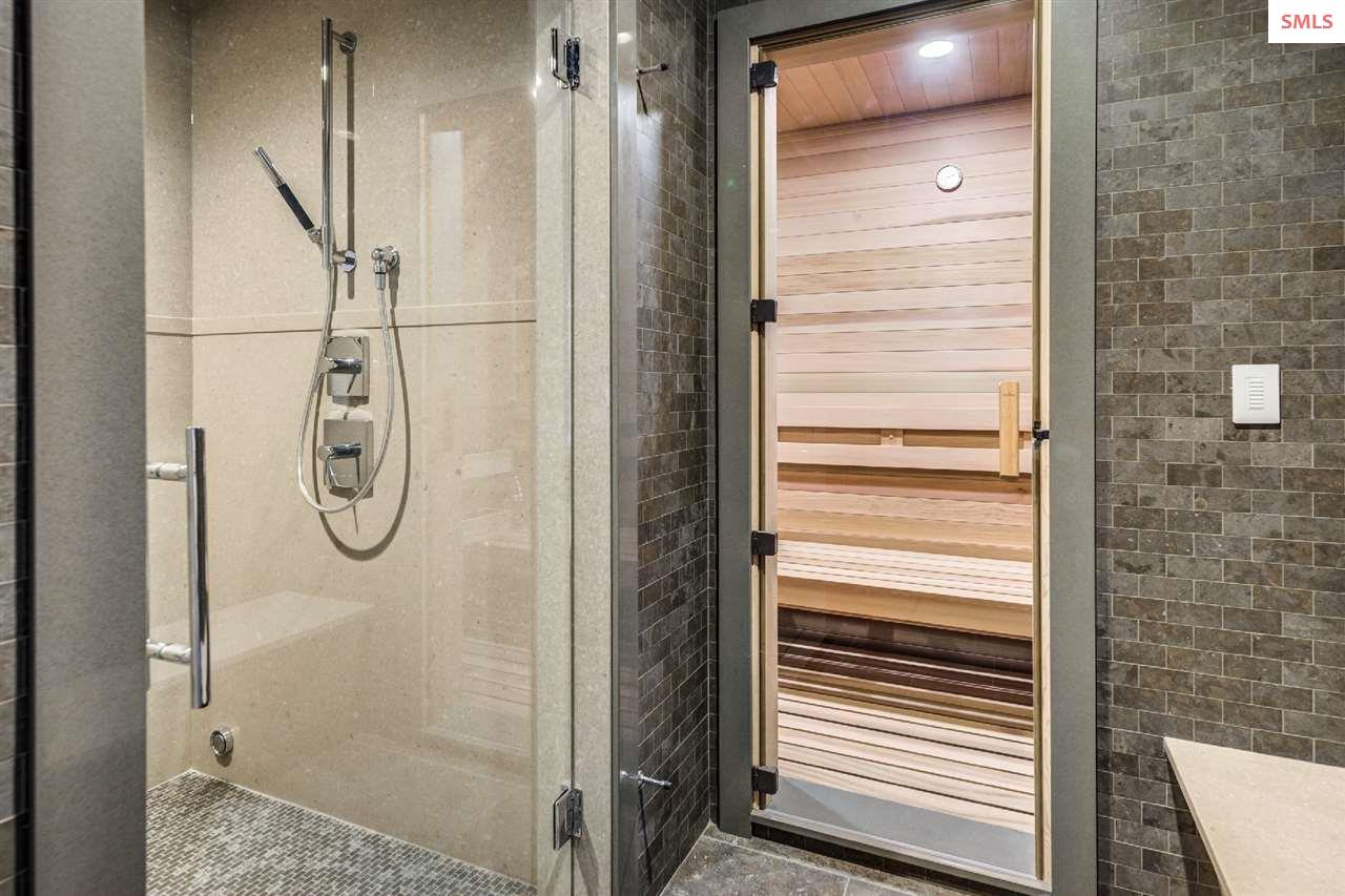 Featuring a steam shower & sauna
