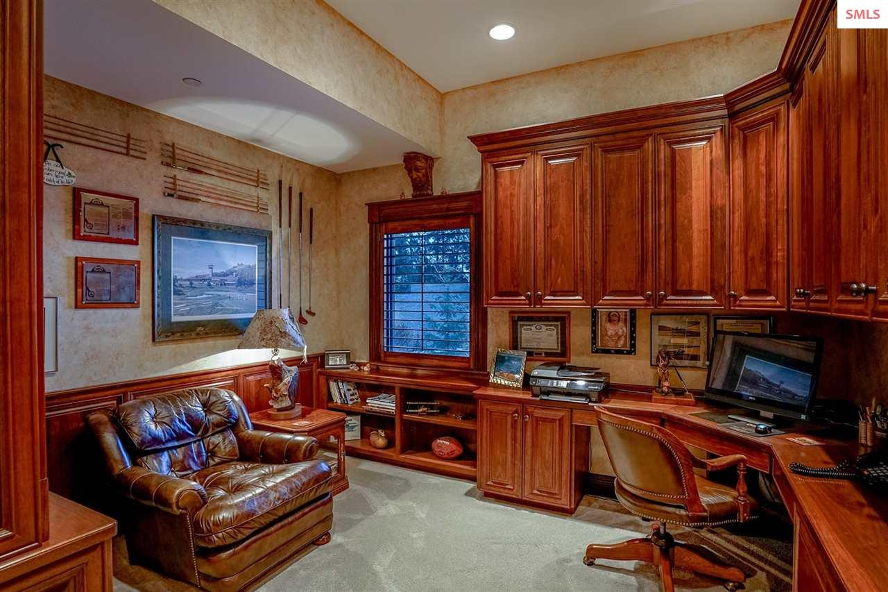 This tucked away private office is just off the  m
