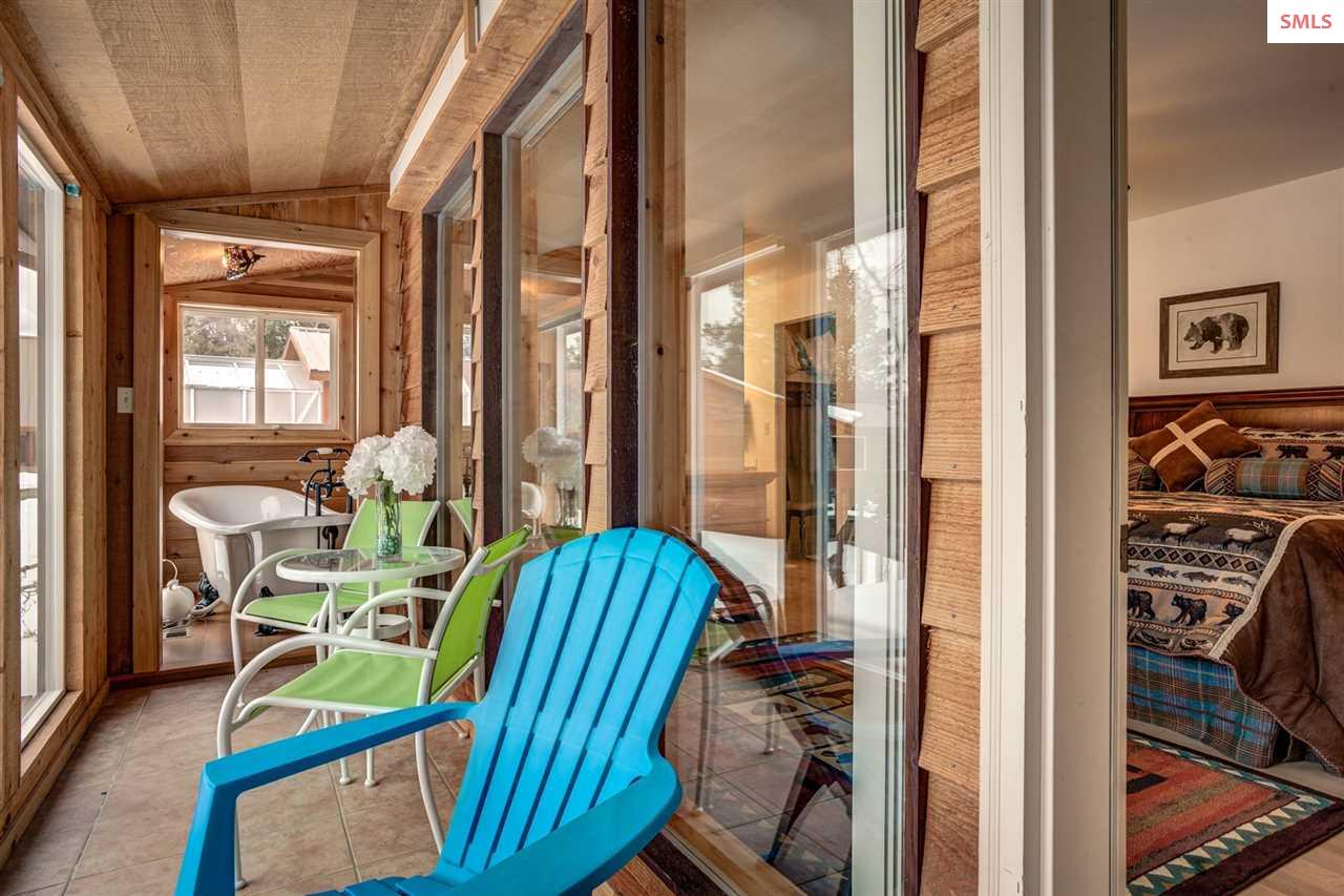 Sunroom off of master, private location to relax