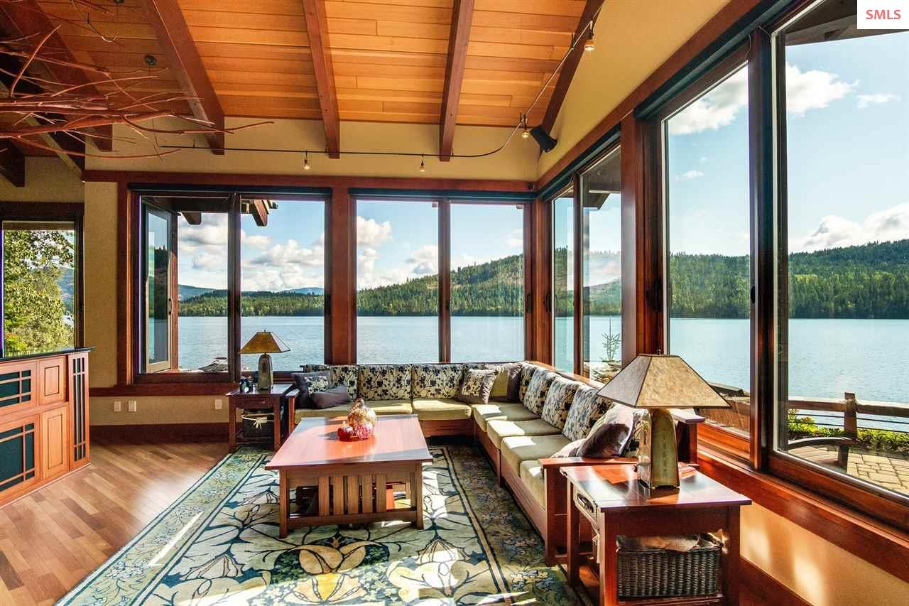 Unobstructed river and mountain views from the mai