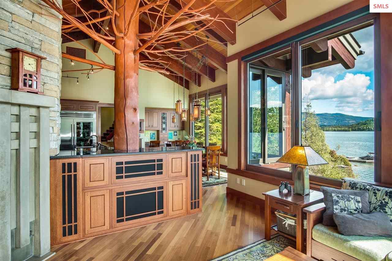 Oversized triple-pane Pella windows allows abundan
